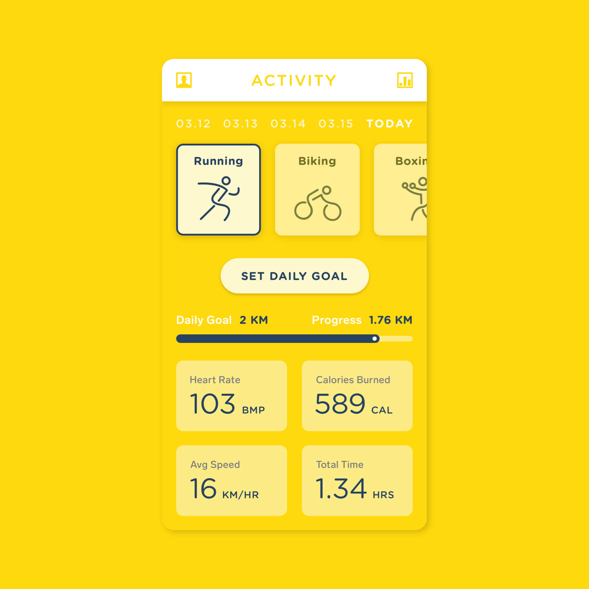 Fitness Dashboard 2